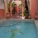 the pool / one of the breakfast areas