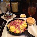 Breakfast at Georgia's. Breakfast skillet did not disappoint. They also have a breakfast buffet.