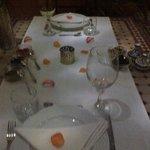 evening dinner setting