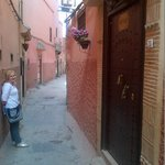 the quiet side street it's located on