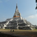 Wat Phu Khao Thong - Montanha dourada, Ayutthaya, Tailândia.