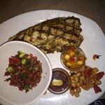 Grilled Tilapia w/Pan Asian Sauce