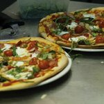 La Fiamma pizzas taken one of the many times I visited. YUM!