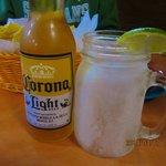 Ice-frosted mason jar mug & extra large lime