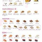 carte du menu buffet
