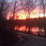 Ein toller Sonnenuntergang aus Sicht des Restaurant