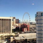 View from Bally's south tower overlooking the High Roller
