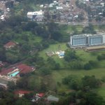 View from the air, flying out of Arusha
