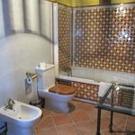 Roomy Bathroom with Alhambra-esque Tilework
