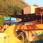Disco and El Arrecife Restaurant at sunset
