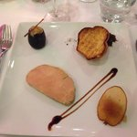 Foie gras au restaurant excellent