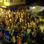 Street party view from the balcony