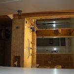 bathroom in king bed oceanview room