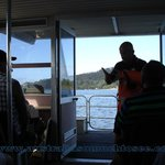 The amazing Gary Muir keep everyone entertained and informed on the WOW boat