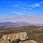 View of Granite Mountain from top of Spruce Mountain