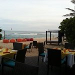 Seafood buffet and toes in the sand on a balmy Bali night