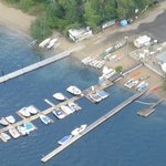 Aerial picture Christina Lake Marina