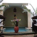 bassin dans le patio
