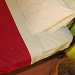 stain on bedsheet