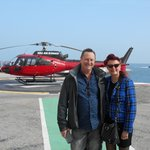 y husband and I and the helicopter transfer back to Nice