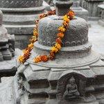 Prayer stones at Swayambhunath