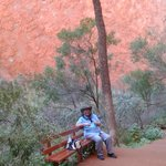 me in the shadow of Uluru