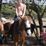 Tom on horseback