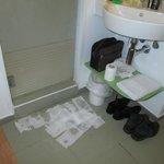 la fuite de l'eau de ladouche des chambres