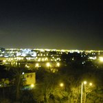 View of Dublin at night from the bedroom