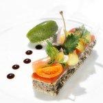 Entrée - Menu gastronomique - Le Clair de la Plume - Grignan - Provence