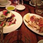 Calamari and Radish salad