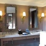 Nice his and hers mirror and basin
