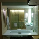 Bathroom - glass wall