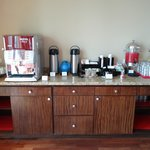 Coffee and tea area of executive lounge