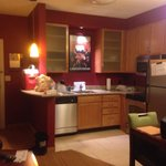 Kitchen in the 1 bedroom suite