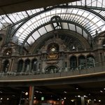 Chic interior of Antwerpen station
