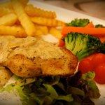 chicken steak white cream mushroom sauce