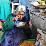 Granny at lunch