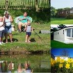 family fishing at Meadow Lakes Holiday Park