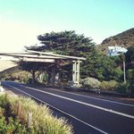 The entrance to the Great Ocean Road which actually has some cool history behind it.