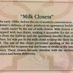 Milk closet plaque