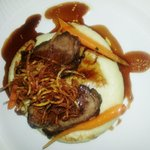 Grilled Rump of Lamb and creamy Mash....Delicious x