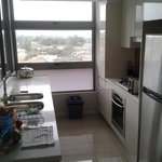 Very functional galley kitchen, corner apt. building O