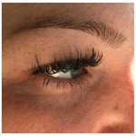 Eyelash Extensions with a subtle pop of color!