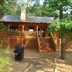 View of back porch of the Texas Star Lake House