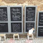 Une façon originale de nous présenter les menus
