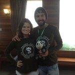 Just before we met our panda!