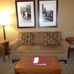 comfort suites lodging room sitting area