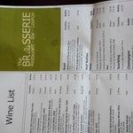 Brasserie Wine List