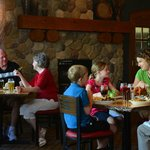 Family-friendly selections, warm and cozy sports atmosphere